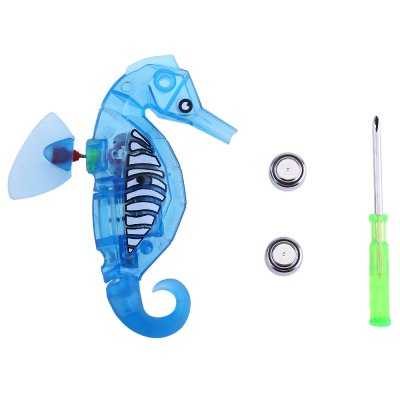 Electronic Pet Robot Sea Horse ToyOutdoor Fun &amp; Sports<br>Electronic Pet Robot Sea Horse Toy<br><br>Age Range: &gt; 3 years old<br>Gender: Unisex<br>Shape: Animal,Cartoon<br>Product weight: 0.025 kg<br>Package weight: 0.064 kg<br>Package Size(L x W x H): 17.50 x 12.50 x 3.00 cm / 6.89 x 4.92 x 1.18 inches<br>Package Contents: 1 x Robotic Toy, 2 x Button Battery, 1 x Screwdriver