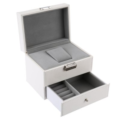 Multifunctional Drawer-style PU Rectangle Watch Display Box