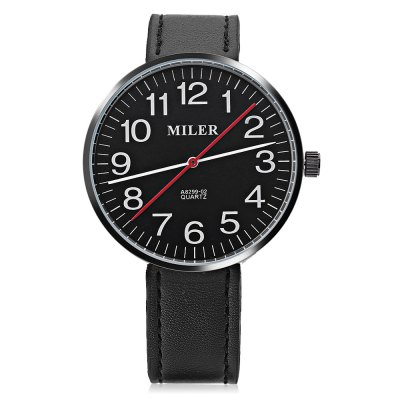 Miler A8299 - 02 Unisex Quartz WatchUnisex Watches<br>Miler A8299 - 02 Unisex Quartz Watch<br><br>Band Length: 7.8 inch<br>Band Material Type: Leather<br>Band Width: 18mm<br>Case material: Alloy<br>Case Shape: Round<br>Clasp type: Pin Buckle<br>Dial Diameter: 1.65 inch<br>Dial Display: Analog<br>Dial Window Material Type: Glass<br>Gender: Men,Women<br>Movement: Quartz<br>Style: Simple<br>Product weight: 0.040 kg<br>Package weight: 0.062 kg<br>Product Size(L x W x H): 24.00 x 4.50 x 0.80 cm / 9.45 x 1.77 x 0.31 inches<br>Package Size(L x W x H): 25.00 x 5.50 x 1.80 cm / 9.84 x 2.17 x 0.71 inches<br>Package Contents: 1 x Miler A8299 - 02 Unisex Quartz Watch