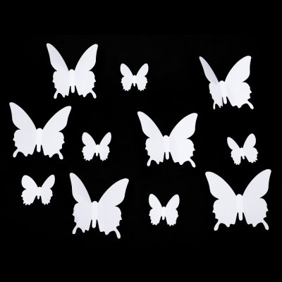 12pcs 3D DIY Butterfly Wall Sticker with PVC Material for Home Decoration