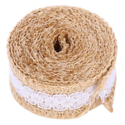 2M Jute Burlap Hessian Wedding Decorative Ribbon