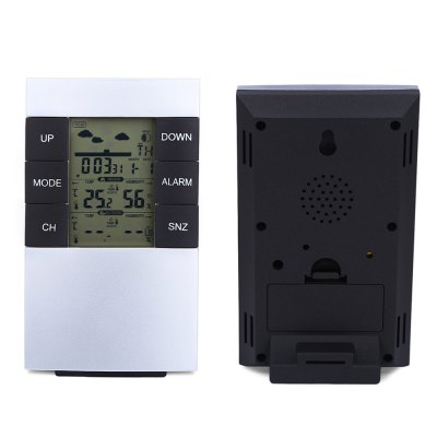 TS - H146 Wireless Weather Station Alarm Clock Barometer
