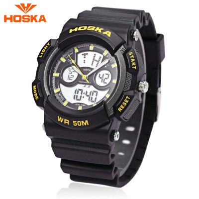 HOSKA HD004B Dual Movt Digital Quartz Children Sport Watch