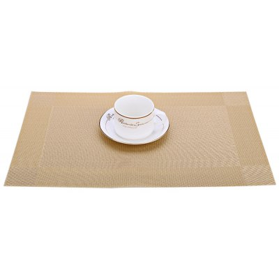 4pcs PVC Heat Insulation Woven Kitchen Placemat