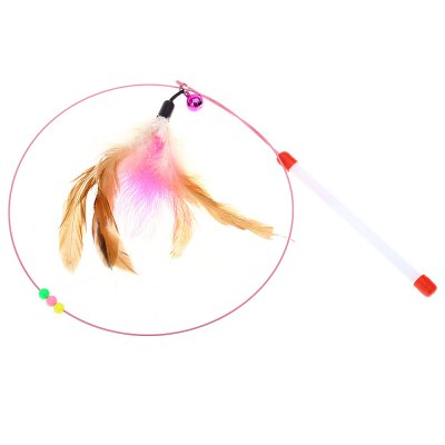 Pet Cat Feather Bell Teaser Wand ToyCat Toys<br>Pet Cat Feather Bell Teaser Wand Toy<br><br>Package Contents: 1 x Pet Cat Teaser Wand Toy<br>Package Size(L x W x H): 26.50 x 21.00 x 1.00 cm / 10.43 x 8.27 x 0.39 inches<br>Package weight: 0.034 kg<br>Product weight: 0.022 kg