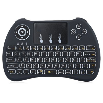H9 Mini Hand-held Wireless QWERTY Keyboard with Backlight