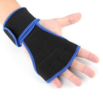 Sport Exercise Cross Half Finger Gloves with Wrist Support