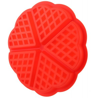 Heart Shape Waffles Silicone Muffin Mold