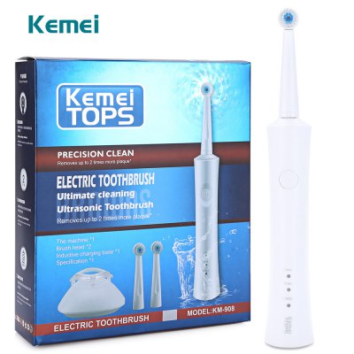 Kemei KM - 908 Waterproof Rechargeable Electric Toothbrush