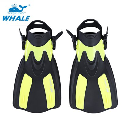 WHALE Adjustable Snorkel Set Trek Fins for Swimming Diving