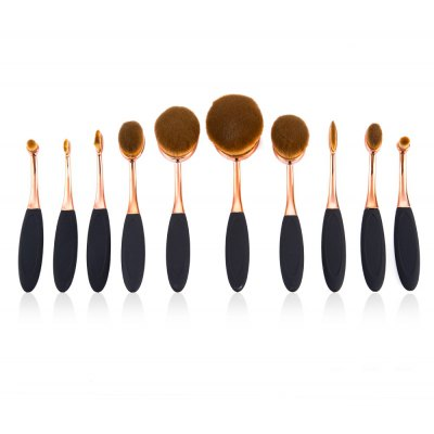 10pcs Professional Multi-size Cosmetic Makeup Brushes Sets