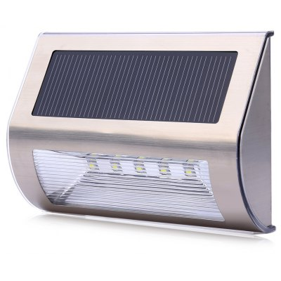 Solar Powered 5 LEDs Wall Light