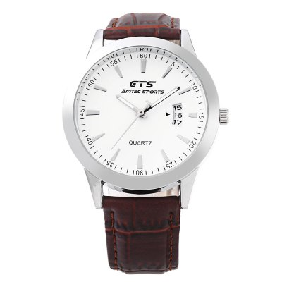 GTS 5351 Unisex Quartz WatchUnisex Watches<br>GTS 5351 Unisex Quartz Watch<br><br>Band Length: 7.96 inch<br>Band Material Type: Leather<br>Band Width: 18mm<br>Case material: Alloy<br>Case Shape: Round<br>Clasp type: Pin Buckle<br>Dial Diameter: 1.64 inch<br>Dial Display: Analog<br>Dial Window Material Type: Hardlex<br>Feature: Date,Luminous<br>Gender: Men,Women<br>Movement: Quartz<br>Style: Simple<br>Water Resistance Depth: 30m<br>Product weight: 0.037 kg<br>Package weight: 0.097 kg<br>Product Size(L x W x H): 24.50 x 4.30 x 0.80 cm / 9.65 x 1.69 x 0.31 inches<br>Package Size(L x W x H): 9.00 x 8.00 x 5.50 cm / 3.54 x 3.15 x 2.17 inches<br>Package Contents: 1 x GTS 5351 Unisex Quartz Watch