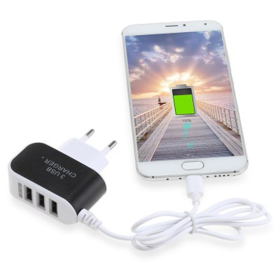 3 USB Port Travel Charger Adapter Micro USB CableChargers &amp; Cables<br>3 USB Port Travel Charger Adapter Micro USB Cable<br><br>Package Contents: 1 x Charging Adapter<br>Package Size(L x W x H): 9.00 x 9.00 x 3.00 cm / 3.54 x 3.54 x 1.18 inches<br>Package weight: 0.0680 kg<br>Product Size(L x W x H): 7.20 x 5.20 x 2.30 cm / 2.83 x 2.05 x 0.91 inches<br>Product weight: 0.0470 kg<br>USB Ports: 3
