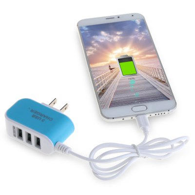 3 USB Port Travel Charger Adapter Micro USB CableChargers &amp; Cables<br>3 USB Port Travel Charger Adapter Micro USB Cable<br><br>Package Contents: 1 x Charging Adapter<br>Package Size(L x W x H): 9.00 x 9.00 x 3.00 cm / 3.54 x 3.54 x 1.18 inches<br>Package weight: 0.0680 kg<br>Product Size(L x W x H): 6.00 x 5.70 x 2.30 cm / 2.36 x 2.24 x 0.91 inches<br>Product weight: 0.0470 kg<br>USB Ports: 3
