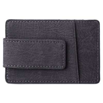 Flama Invisible Magnet Button Open Card Wallet Money ClipCoin Purse &amp; Card Holder<br>Flama Invisible Magnet Button Open Card Wallet Money Clip<br><br>Closure Type: Open<br>Embellishment: Letter<br>Gender: For Men<br>Hardness: Hard<br>Height: 10.7cm / 4.21inch<br>Interior: Interior Slot Pocket<br>Length(CM): 7.2cm / 2.83inch<br>Main Material: PU Leather<br>Package Contents: 1 x Card Wallet Money Clip<br>Package size (L x W x H): 7.70 x 1.10 x 11.20 cm / 3.03 x 0.43 x 4.41 inches<br>Package weight: 0.039 kg<br>Pattern Type: Solid<br>Product weight: 0.028 kg<br>Style: Vintage<br>Wallets Type: Money Clip<br>Width: 0.6cm / 0.24inch