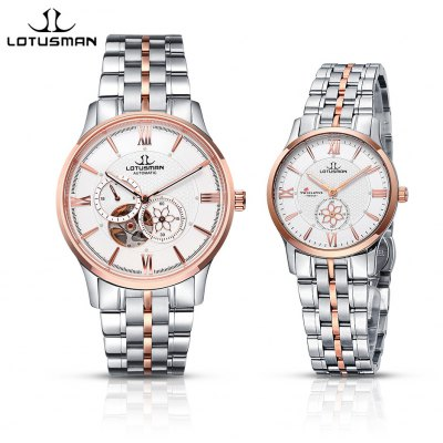 LOTUSMAN 502SWA Couple Automatic Mechanical Watch