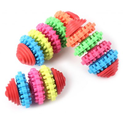 Multi-Color Peppy Pet Dog Mini Rubber Chew Toy