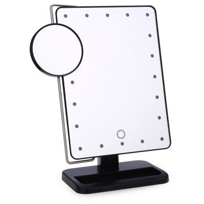 Rotatable Folding Table 20 LED Lamp Cosmetic Mirror