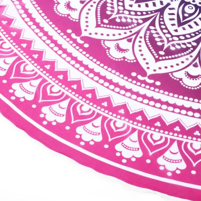 Printed Beach Towel Round Pad Mat Outdoor Accessory