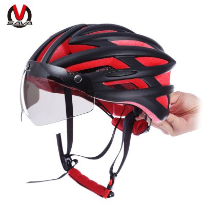 SAVA Unisex 57 - 62CM Bicycle Helmet with Goggles Glasses