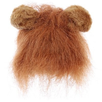 Funny Pet Cat Cosplay Hairpiece Lion Wig Ear
