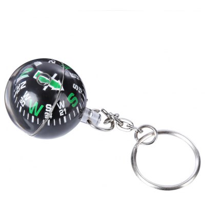 Outdoor 28MM Ball Compass with Keychain