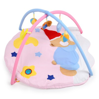 Baby Soft Play Mat Sleeping Bear Blanket