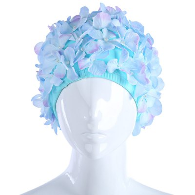 Petals Ear Cover Swimming Cap with Three-dimension