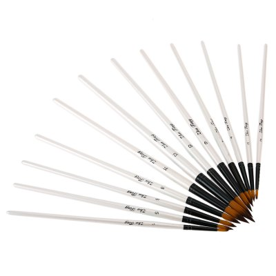 ZhuTing 12pcs Pointed Nylon Wool Acrylic Drawing Brush PenPainting Supplies<br>ZhuTing 12pcs Pointed Nylon Wool Acrylic Drawing Brush Pen<br><br>Brand: Zhuting<br>Product weight: 0.061 kg<br>Package weight: 0.086 kg<br>Package Size(L x W x H): 30.00 x 12.00 x 0.50 cm / 11.81 x 4.72 x 0.2 inches<br>Package Contents: 12 x Nylon Wool Acrylic Pointed Drawing Brush Pen