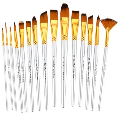 ZhuTing Nylon Hair Painting Brush Artist Watercolor Acrylic Oil Painting Drawing Tools