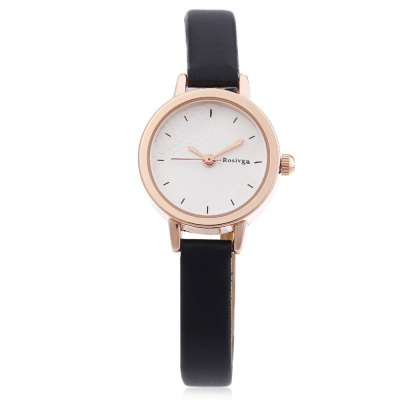 Rosivga 260 - 1 Female Quartz WatchWomens Watches<br>Rosivga 260 - 1 Female Quartz Watch<br><br>Band Length: 6.97 inch<br>Band Material Type: Leather<br>Band Width: 8mm<br>Case material: Alloy<br>Case Shape: Round<br>Clasp type: Pin Buckle<br>Dial Diameter: 0.9 inch<br>Dial Display: Analog<br>Dial Window Material Type: Glass<br>Gender: Women<br>Movement: Quartz<br>Style: Dress<br>Product weight: 0.012 kg<br>Package weight: 0.060 kg<br>Product Size(L x W x H): 20.00 x 2.50 x 1.00 cm / 7.87 x 0.98 x 0.39 inches<br>Package Size(L x W x H): 9.00 x 8.00 x 5.50 cm / 3.54 x 3.15 x 2.17 inches<br>Package Contents: 1 x Rosivga 260 - 1 Female Quartz Watch