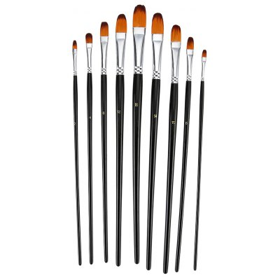 ZhuTing 9pcs Nylon Hair Paint Brush