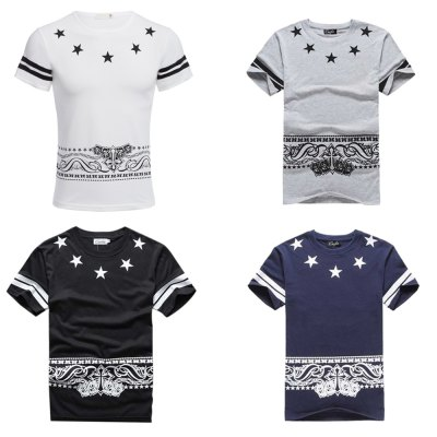 Casual Letter Print Cotton Blends Men ShirtMens Short Sleeve Tees<br>Casual Letter Print Cotton Blends Men Shirt<br><br>Collar: Round Neck<br>Fabric Type: Broadcloth<br>Material: Cotton Blends<br>Package Contents: 1 x Shirt<br>Pattern Type: Letter<br>Sleeve Length: Short<br>Style: Casual<br>Weight: 0.155kg