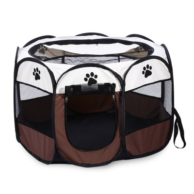 Foldable Portable Pet Dog Cat Playpen Exercise Kennel