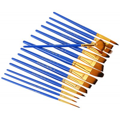 ZhuTing 15pcs Nylon Hair Paint Brush