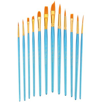 ZhuTing 12pcs Nylon Hair Paint BrushPainting Supplies<br>ZhuTing 12pcs Nylon Hair Paint Brush<br><br>Product weight: 0.296 kg<br>Package weight: 0.320 kg<br>Product Size(L x W x H): 26.00 x 19.50 x 2.00 cm / 10.24 x 7.68 x 0.79 inches<br>Package Size(L x W x H): 27.00 x 20.50 x 3.00 cm / 10.63 x 8.07 x 1.18 inches<br>Package Contents: 12 x Nylon Hair Painting Brush Artist Watercolor Acrylic Oil Painting Drawing Tools, 1 x Palette, 1 x Bag
