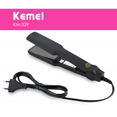 KM-329 Hair Straightener Tourmaline Ceramic Heating Plate Styling Tools