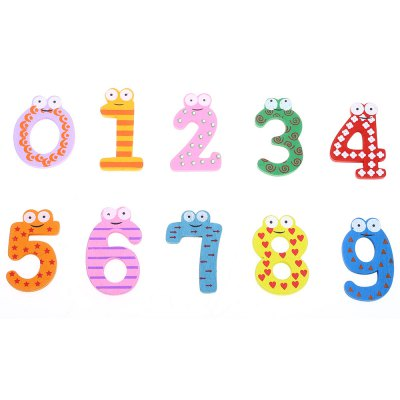 Number Wooden Fridge Magnet Child Educational Toy