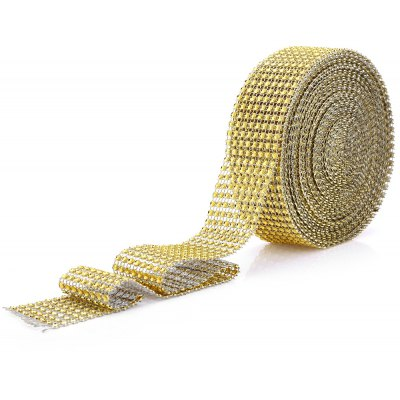 1.5 Inches x 10 Yards Rhinestone Crystal Mesh Ribbon Wrap