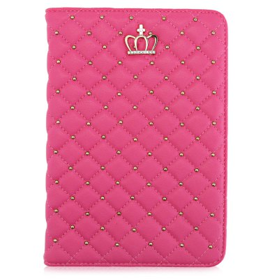 PU Leather Rivet Sleep Function Cover for iPad Mini 4