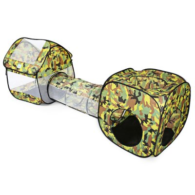 Portable Foldable Camouflage Pop Up Tunnel Tent