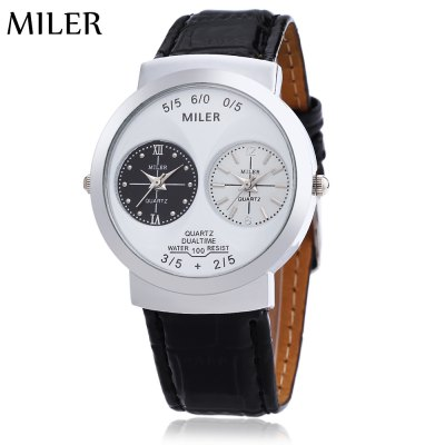Miler C01 Unisex Dual Quartz Movt Watch