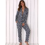 cheap Women Polka Dot Print Soft Pajama