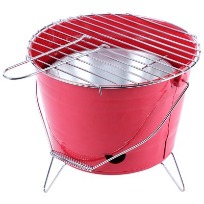 Bucket Shape Stainless Steel Barbecue Grill