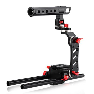WEIHE WH350 Shoulder Mount Rig Follow Focus Kit for Canon Sony DSLR Camera