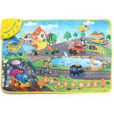 Kids Transportation Sound Carpet Learning Musical Mat Toy