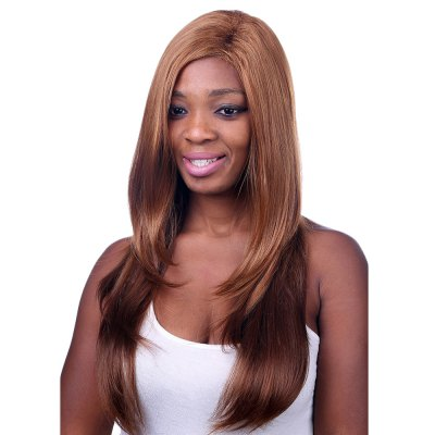70CM Women Europe Style Side Bang Long Loose Straight Wigs