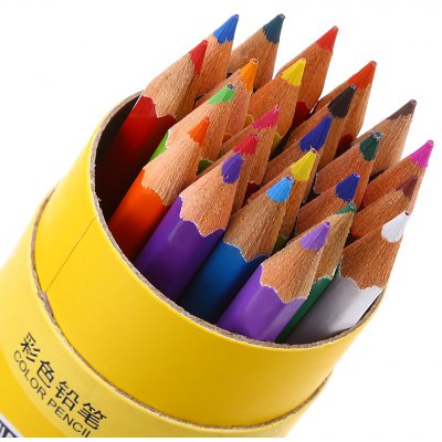Zibom 24 Colored Drawing Wooden Pencil Kit