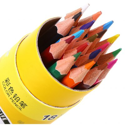 Zibom 18 Colored Drawing Wooden Pencil Kit